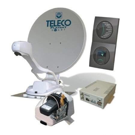 Teleco Flatsat Easy SMART schotel antenne satelliet tv camper caravan Flatsat Skew Easy Smart