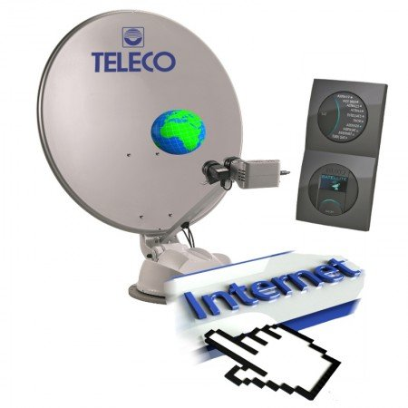 Teleco internet satelliet antenne camper caravan tv schotel
